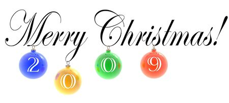 3D text: Merry Christmas! (2009) photo