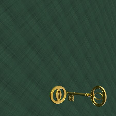 retro golden key and keyhole (high resolution image) photo
