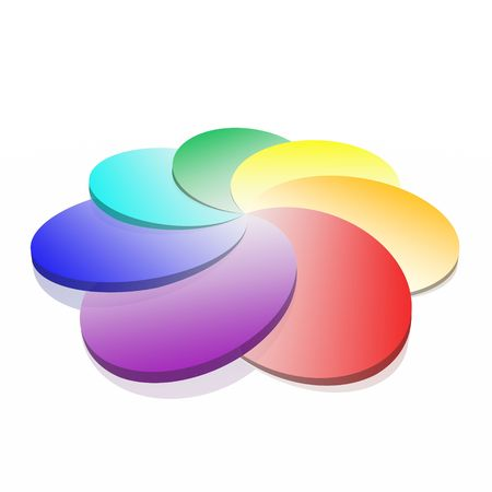 3D spiral colorful palette (high resolution) Stock Photo