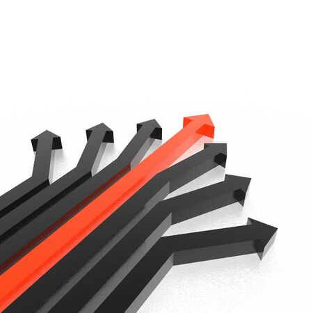 slew: 3D arrows (high resolution 3D image) Stock Photo