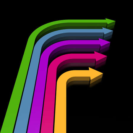 slew: 3D colorful arrows (high resolution)