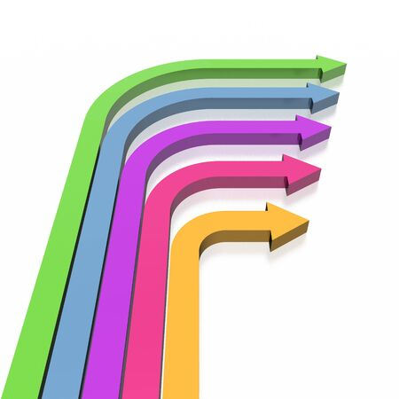 3D colorful arrows (high resolution) Stock Photo - 2520470