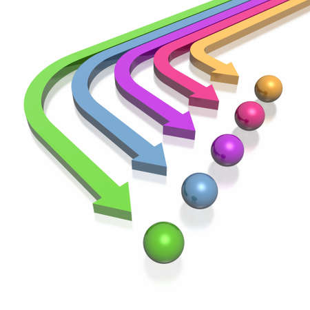 3D colorful arrows (high resolution) Stock Photo - 2520472