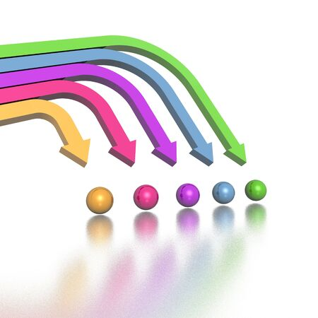 3D colorful arrows (high resolution) Stock Photo - 2520483