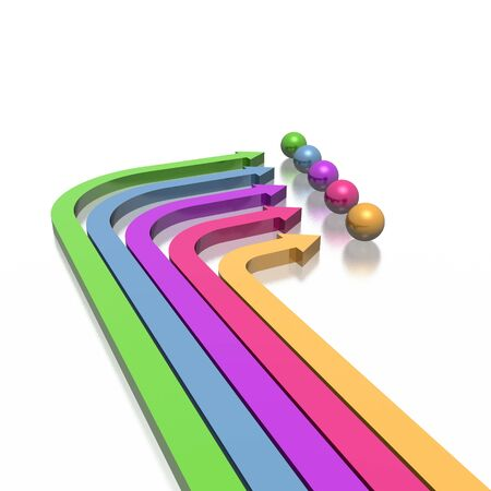 3D colorful arrows (high resolution) Stock Photo - 2520469