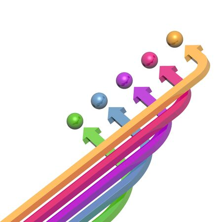 3D colorful arrows (high resolution) Stock Photo - 2553633
