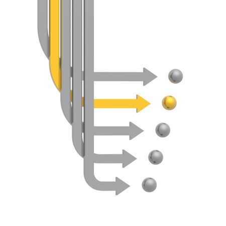 swerve: 3D gold and silver arrows (high resolution)