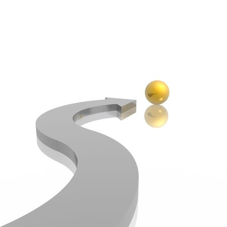 3D arrow and sphere (high resolution)