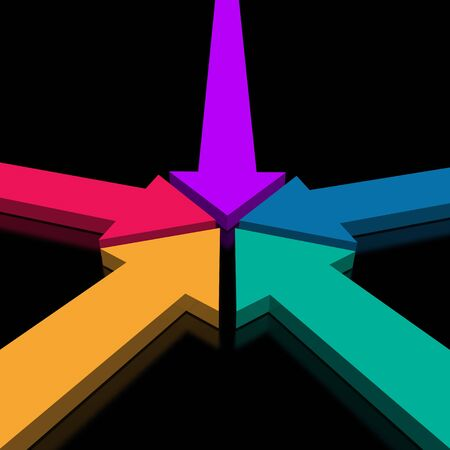 arrows together (from 3D arrows set) Stock Photo - 2601198