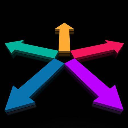 five arrows (from 3D arrows set) photo