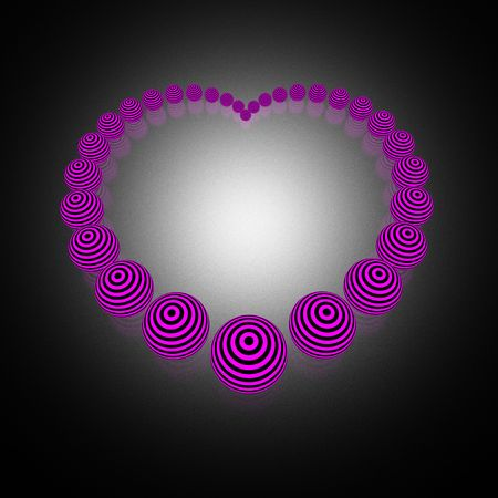 EMO style heart (high resolution 3D image) photo