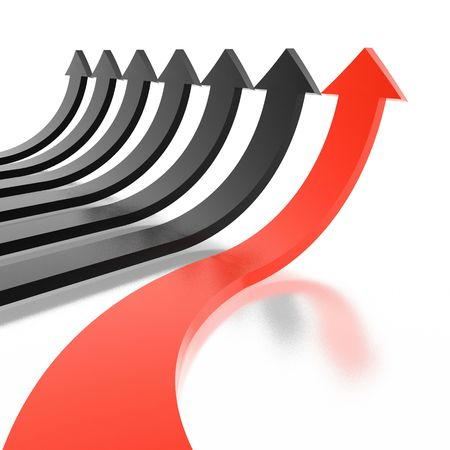arrows (from 3D arrows set) Stock Photo - 2745612