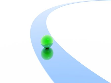 sphere and way (green and blue set) photo