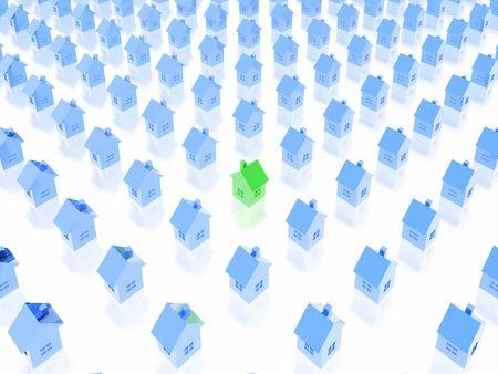 arri�re-plan de biens immobiliers (jeu de vert et bleu)