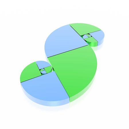golden ratio: n�mero �ureo (verde y azul set)