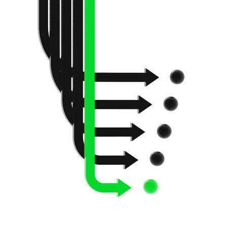 swerve: arrows (from 3D arrows set)