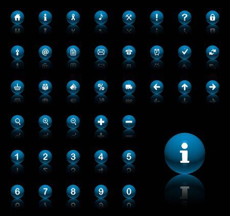 3D icon set (39 high resolution icons, symbol size 400x500pt)