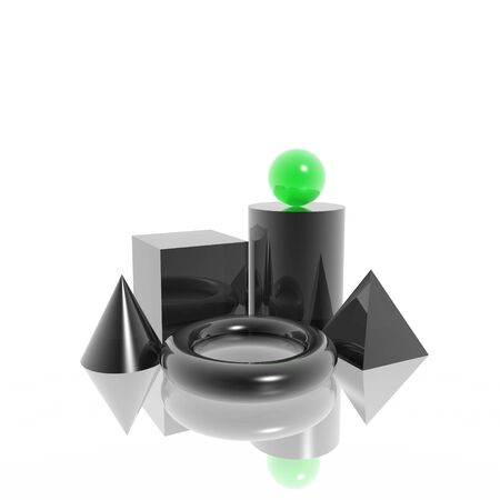 3D simple shapes (high resolution) photo