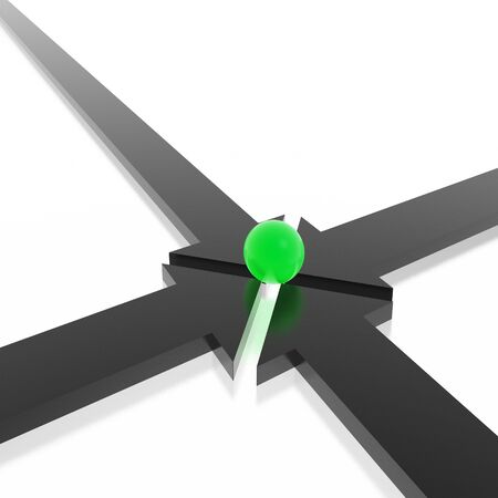 arrows together (from 3D arrows set) Stock Photo - 2894166