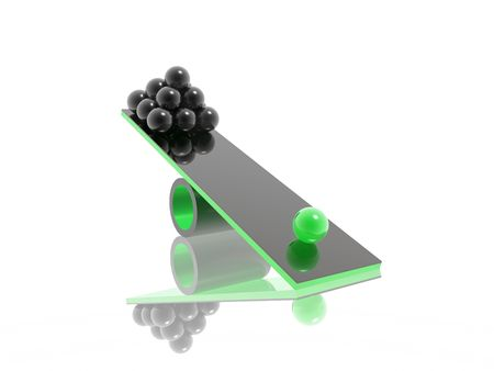 disbalance (high resolution 3D image) photo