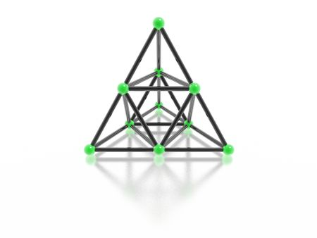 construction logo: glass pyramid (high resolution 3D image) Stock Photo