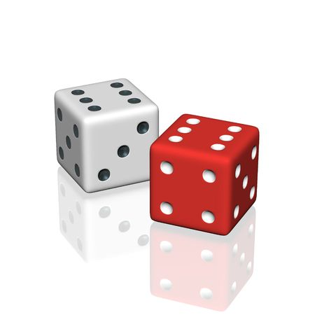 two dice Stock Photo - 3474232