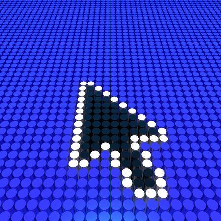 clique: arrow cursor Stock Photo