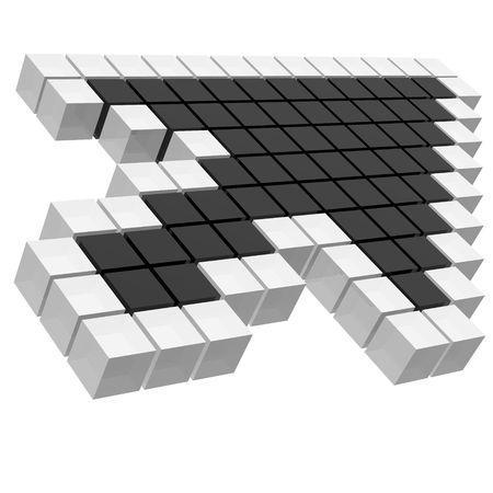 arrow cursor Banque d'images