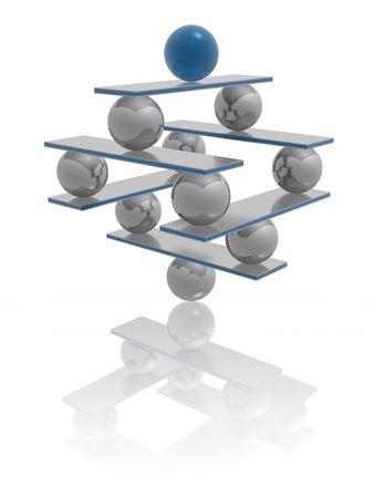 inspiratie: harmonie en evenwicht Stockfoto