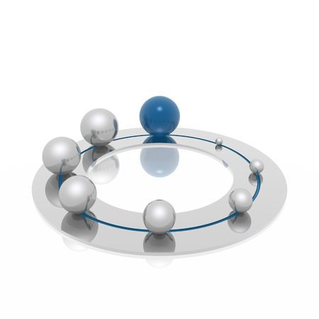 leadership abstract: development ring (blue and silver series) Stock Photo
