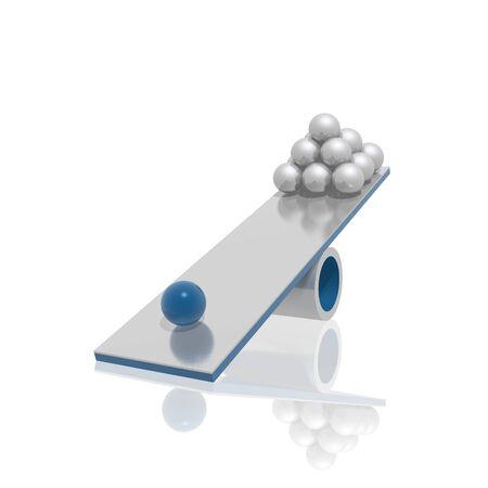 �quilibre (bleu et argent s�rie)