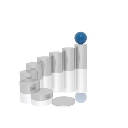 business progress (blue and silver series) photo