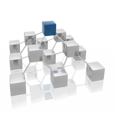 structure de r�seau Banque d'images