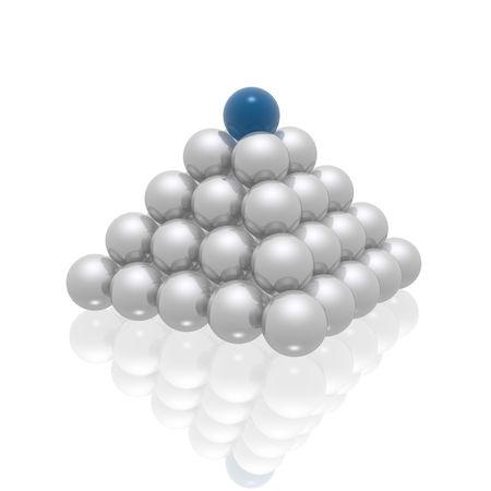 pyramide (bleu et argent s�rie) Banque d'images