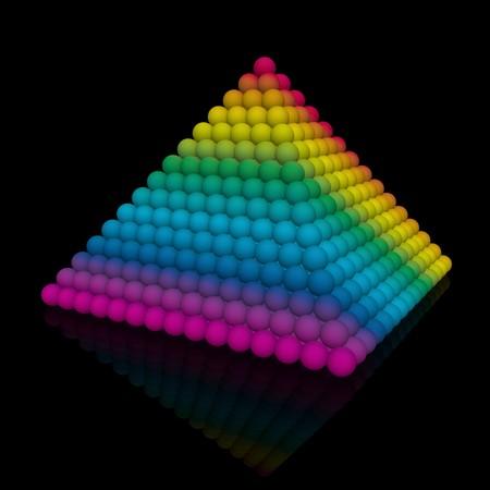 color-full pyramid photo