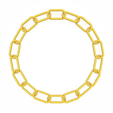 gold chain: chain frame