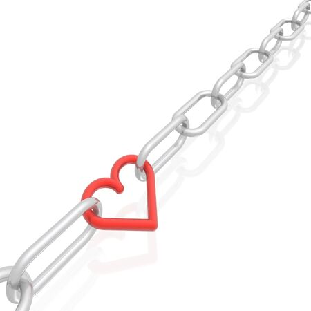 chain and heart Stock Photo - 4391515