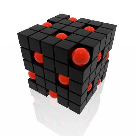 cubes and spheres photo
