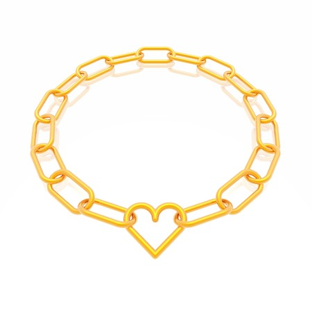 chain frame with heart Stock Photo - 4391520