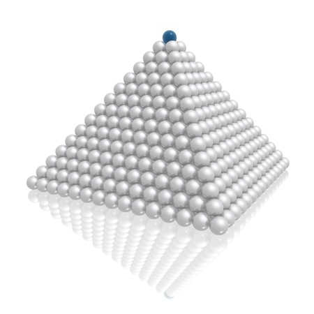 sur le haut de la pyramide