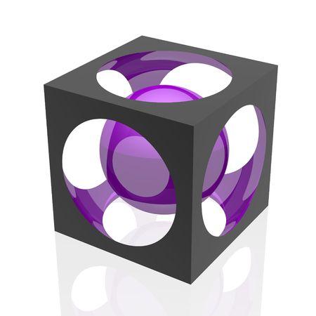abstract symbol (violet set) photo