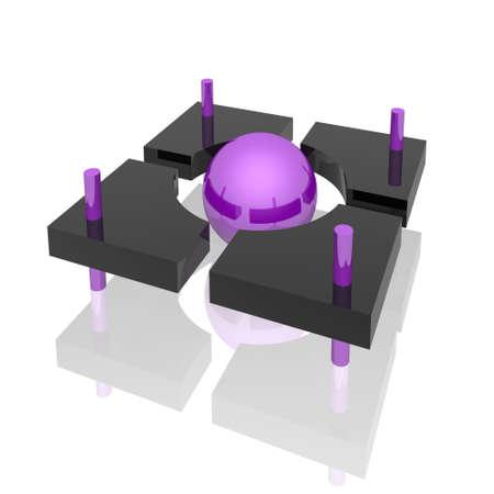 design element  (violet set) photo