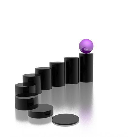 progress symbol (violet set) photo