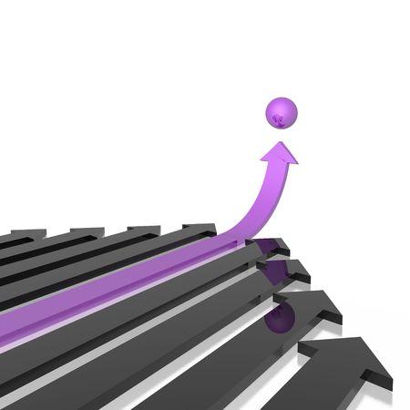 different arrow (violet set) photo