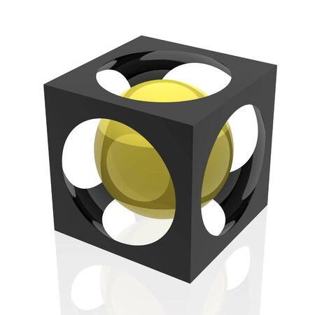 abstract symbol (yellow set) photo