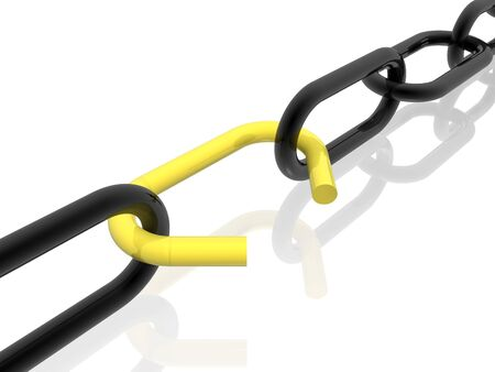 other space: chain (yellow set) Stock Photo