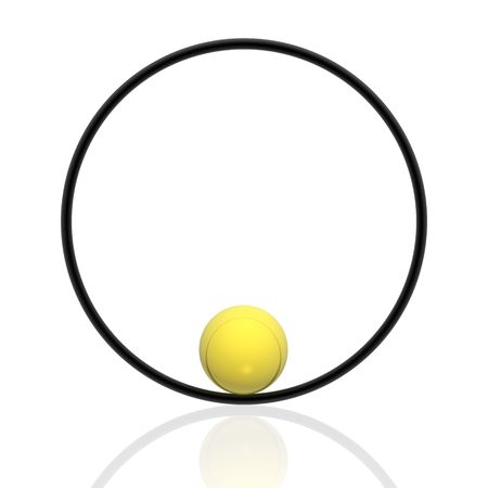 sphere and ring (yellow set) photo