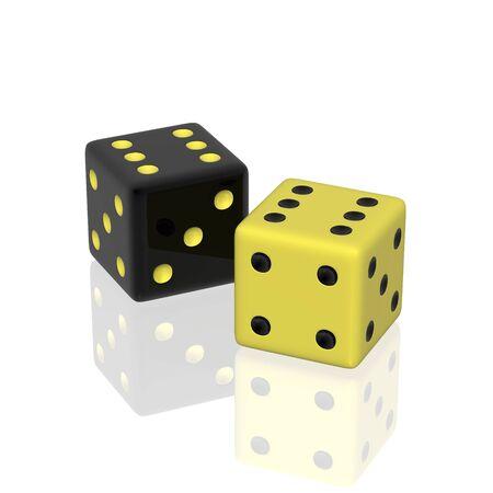double the chances: dice