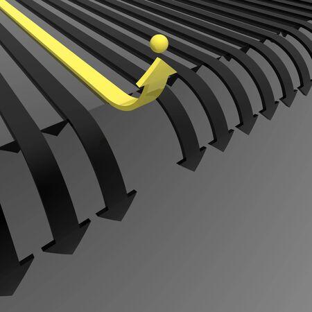different way (yellow-black set) Stock Photo - 5381197