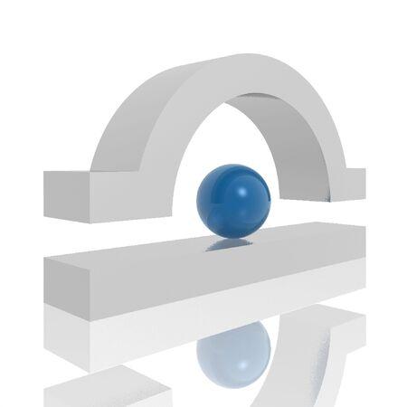 abstract 3d symbol photo